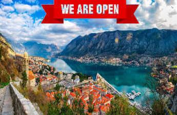 какие страны открыли границы для украины черногория